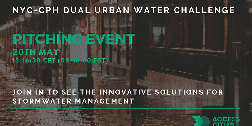 NYC-CPH Dual Urban Water Challenge Pitching Event