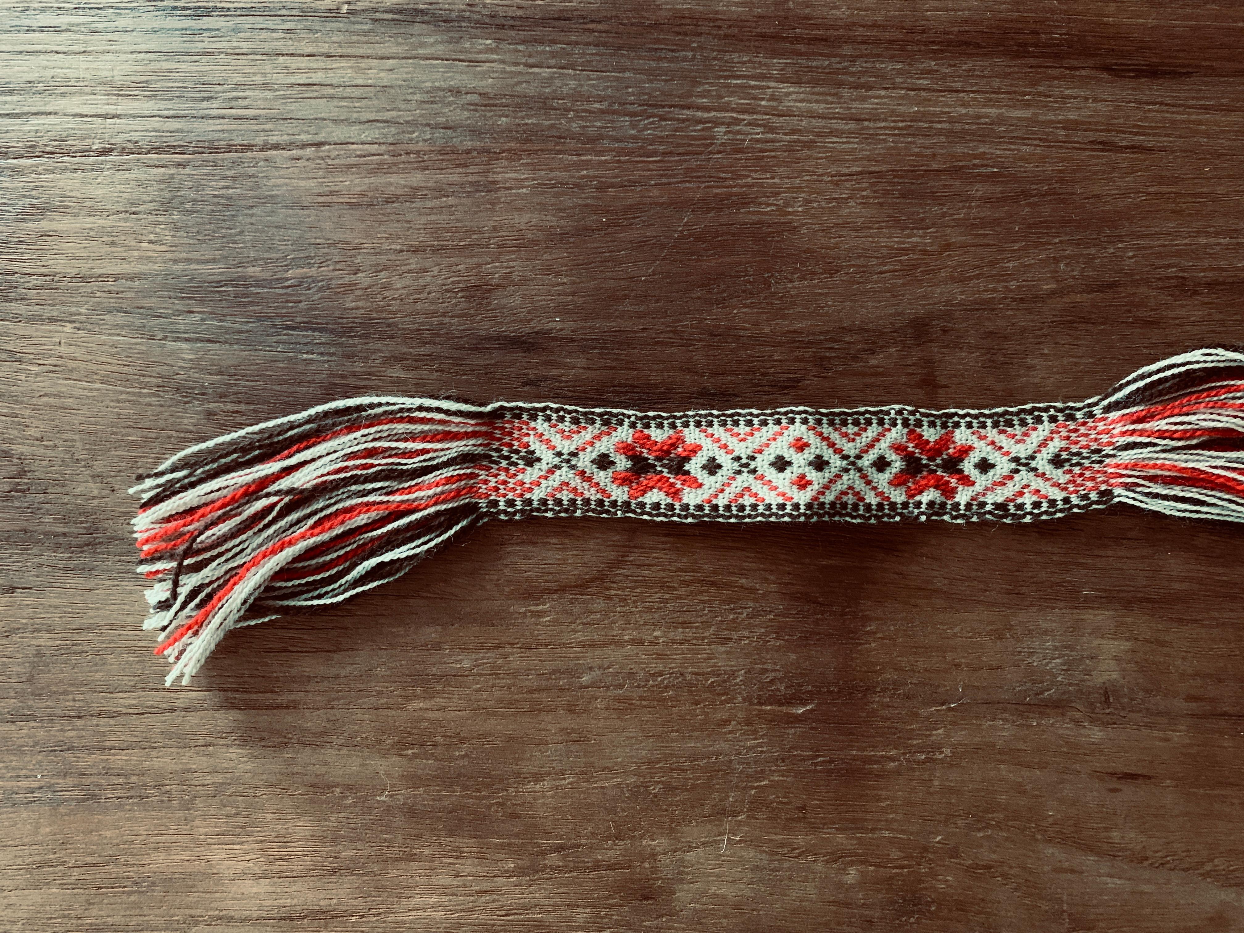 ⑧⑨綾織りのバンド織り