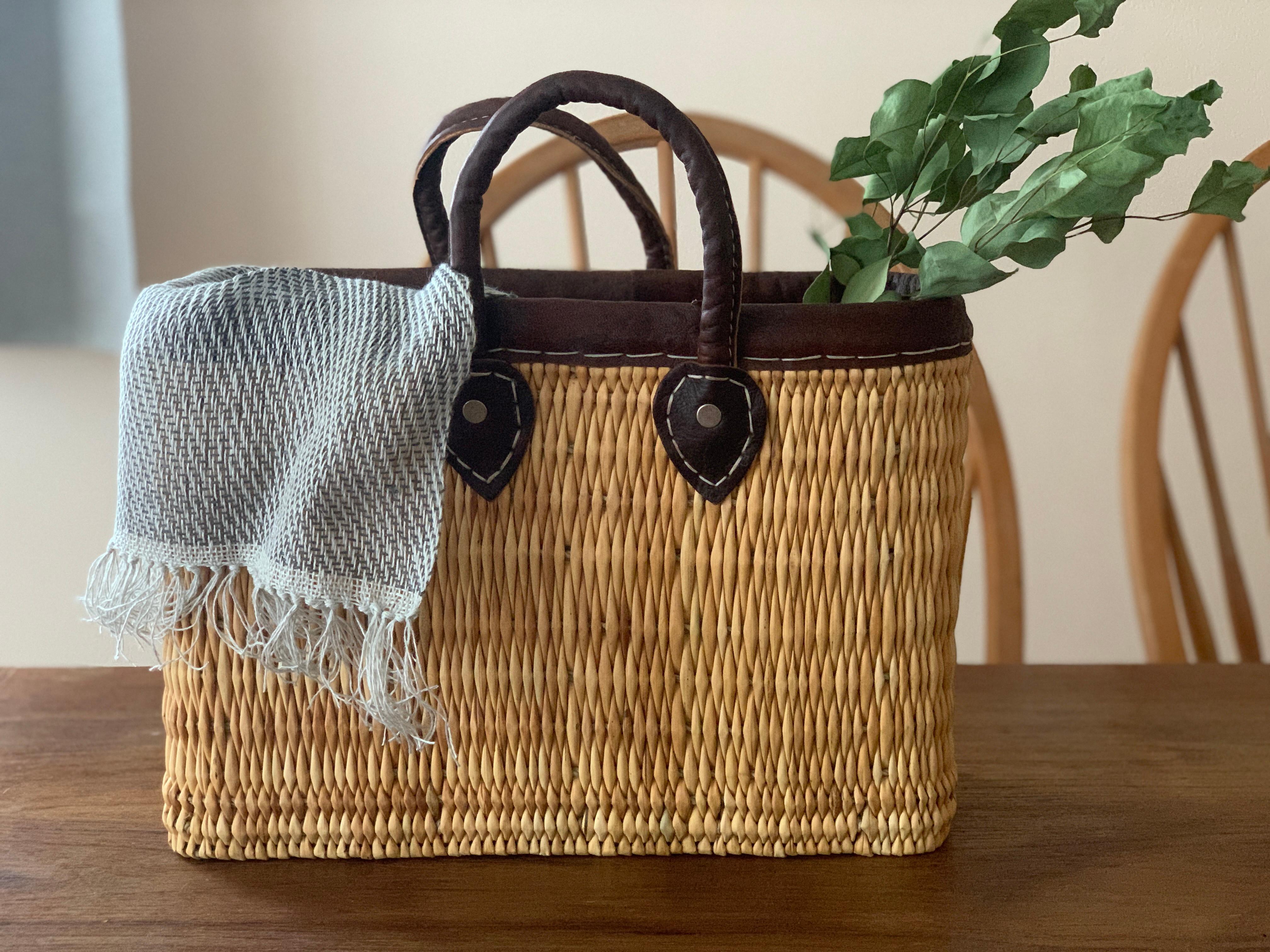 ⑩⑪リネンの糸でカゴカバーを織ろう大bag付き