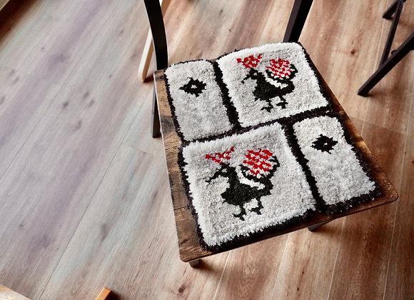 椅子敷きno.3(peacock)手織りキット