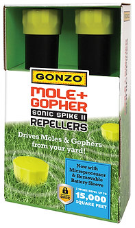 GONZO® 5016 MOLE & GOPHER SONIC SPIKE II REPELLERS