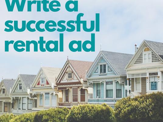 Write a Successful Rental Ad