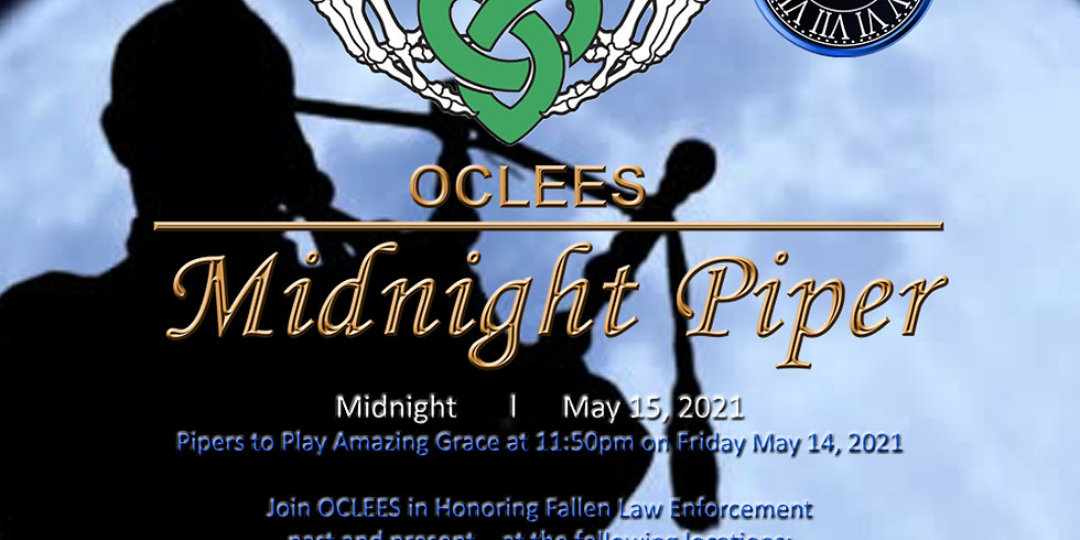 Midnight Piper to Honor Fallen Law Enforcement