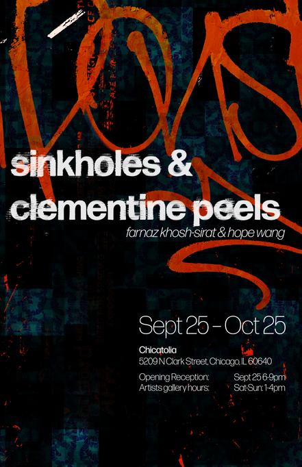 sinkholes & clementine peels | opening reception
