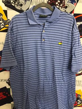 Masters striped polo XL