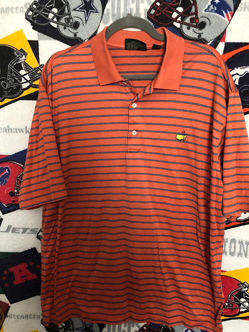 Masters striped polo XL