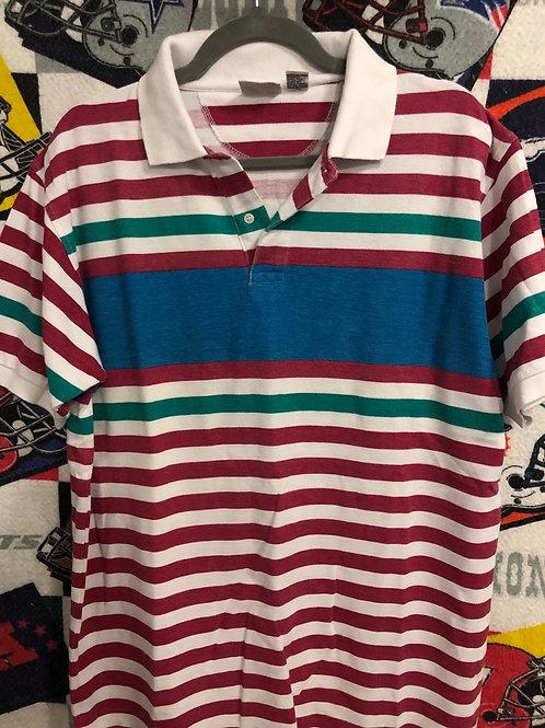 Vintage striped polo large