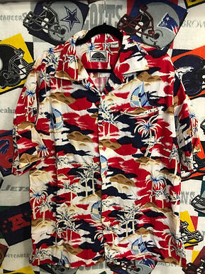Red Hawaiian shirt large