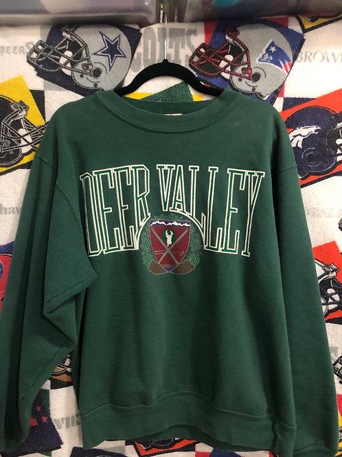 Vintage Deer Valley sweatshirt large