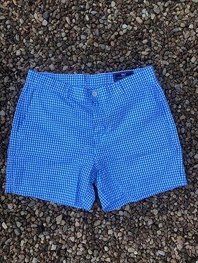 Vineyard vines blue checkered shorts sz 34