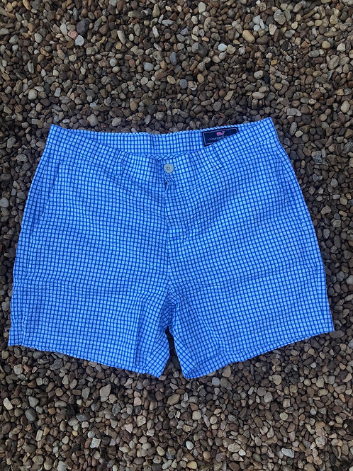 Vineyard vines blue checkered shorts sz 34