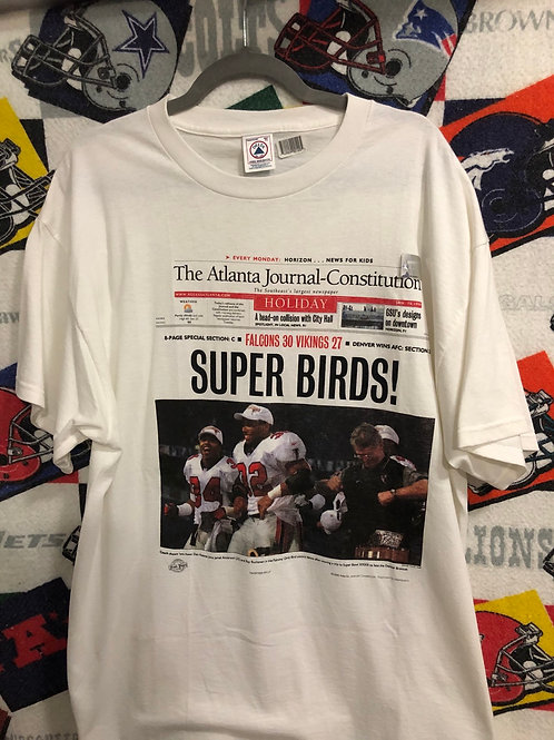 1998 Falcons Super Bowl AJC T-shirt NEW 2XL