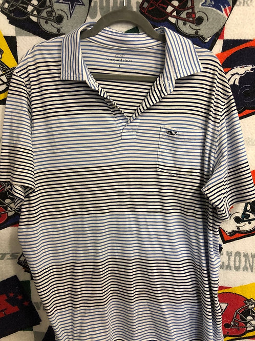 Striped Vineyard Vines polo large
