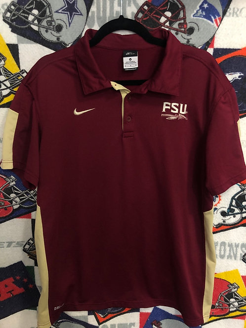Vintage FSU Nike polo medium