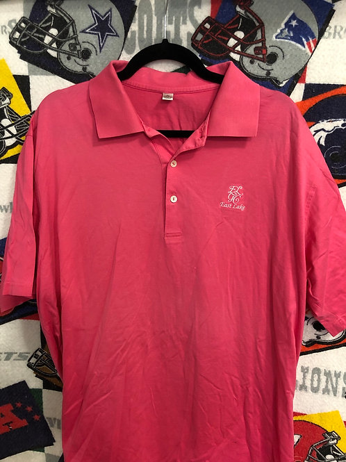 East Lake pink Peter Millar golf polo XL