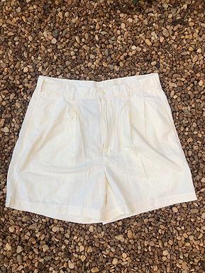 Jos A Bank yellow striped shorts sz 33
