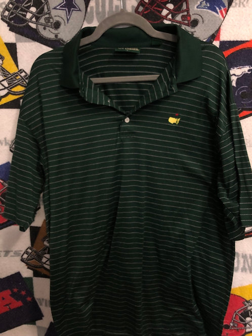Striped masters polo large