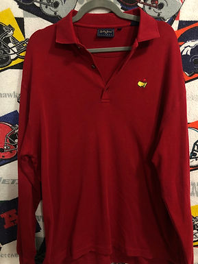 Vintage Masters golf long sleeve polo large
