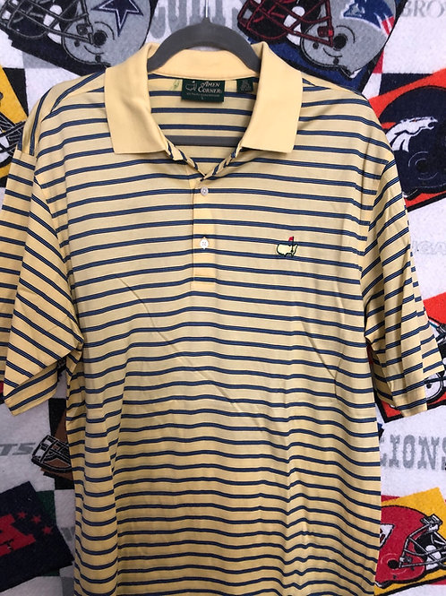 Masters striped polo large