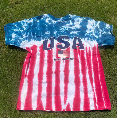USA tie dyed T-shirt XL