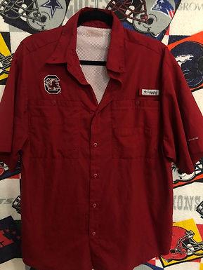 Columbia USC South Carolina fishing shirt medium