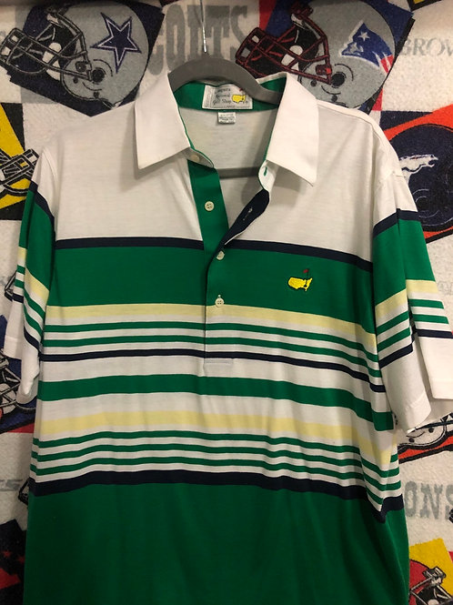 Vintage Masters striped polo Large
