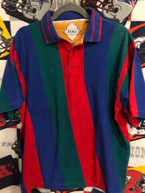 Vintage golf striped polo XL