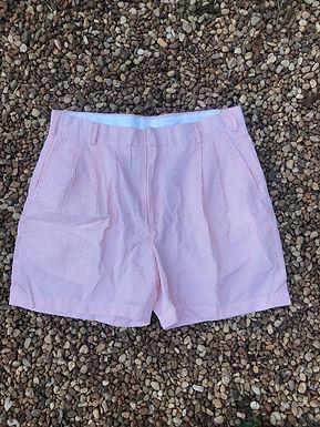 Orange striped shorts sz 34
