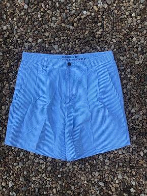 Saddlebred blue striped shorts sz 32w