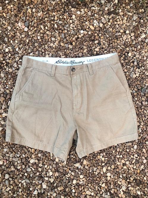 Eddie Bauer khaki shorts sz 35