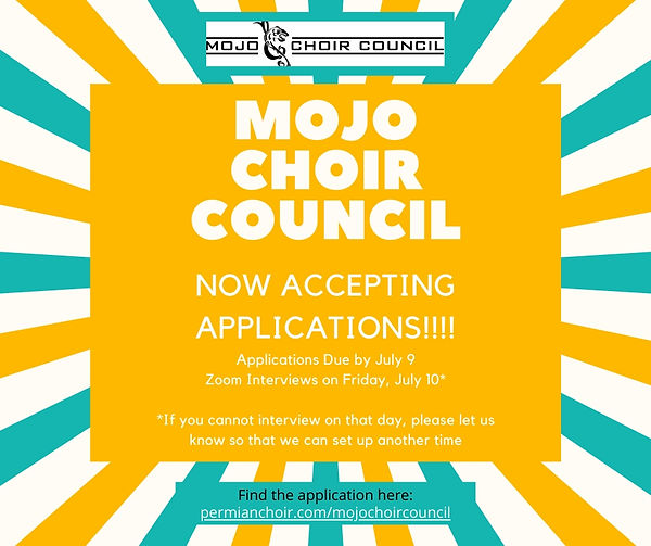 Choir Council Application Announcement (