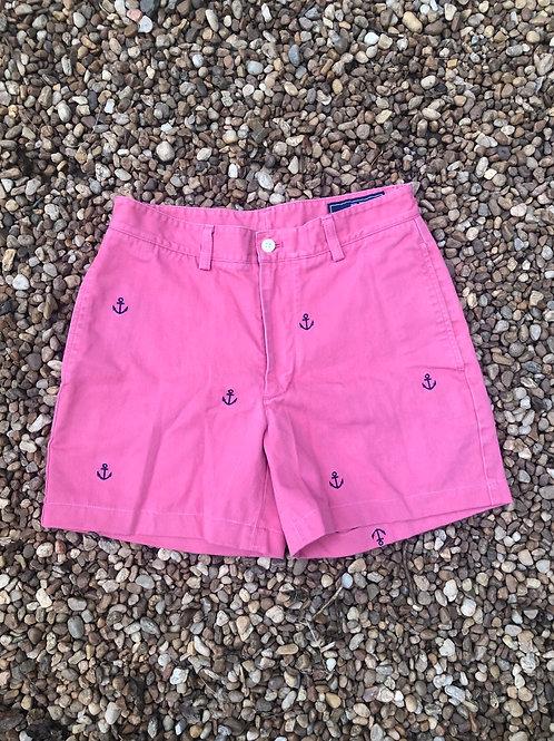 Pink Vineyard Vines shorts with anchors sz 28
