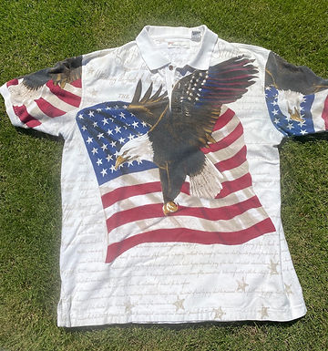 Vintage USA Eagle polo large