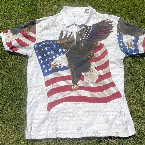 Vintage USA Eagle polo large