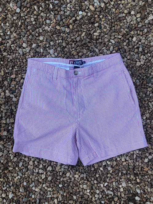 Chaps red striped shorts sz 32