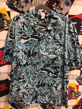Vintage Blue  Hawaiian shirt XL