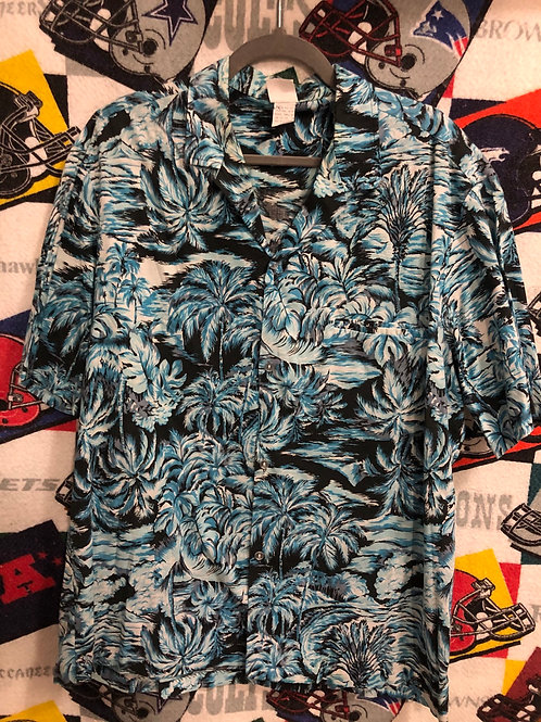Vintage Blue  Hawaiian shirt XL