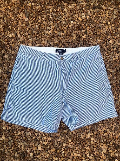 Chaps blue striped shorts sz 36