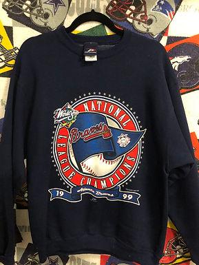 1999 Atlanta Braves World Series sweatshirt Medium