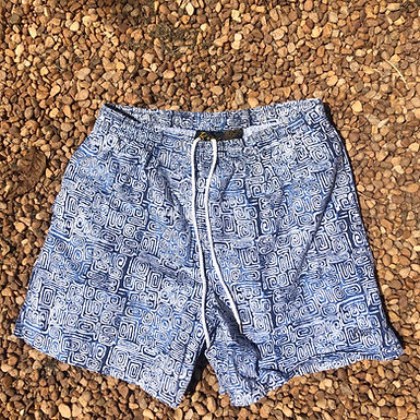 Bass blue and white patterned swimsuit sz M
