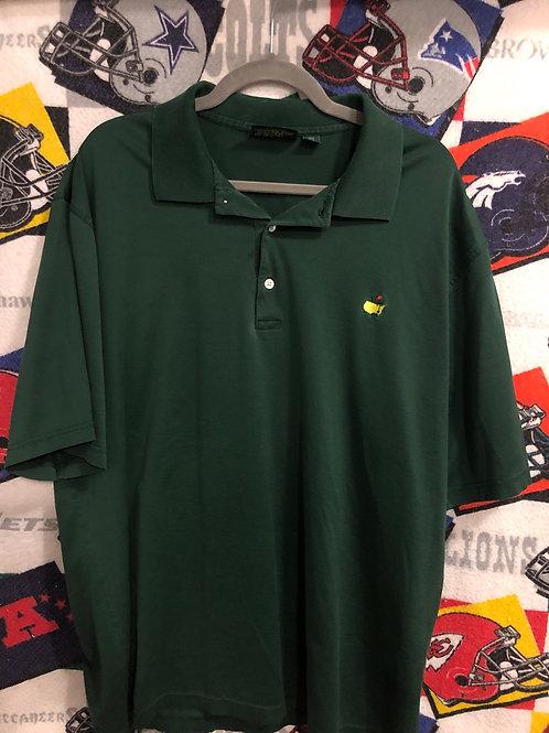Vintage Masters green polo XL