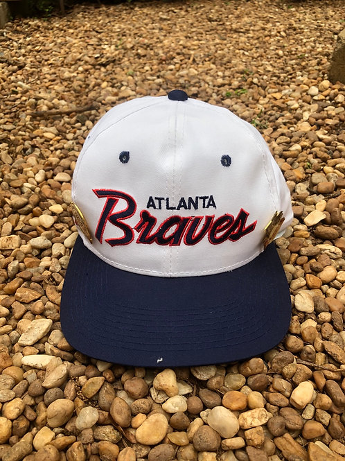 Atlanta Braves hat with two pins Sport Speciality