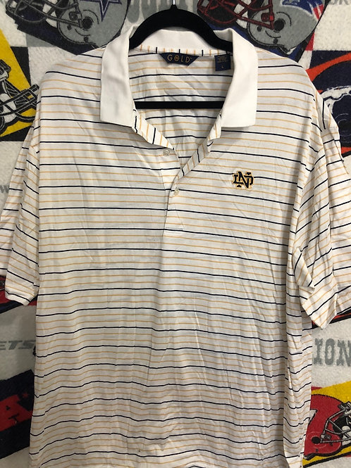 Notre Dame striped polo Large