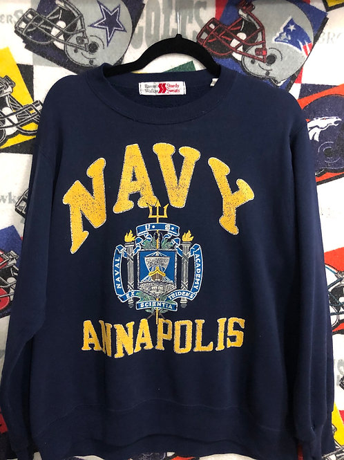 Vintage Navy sweatshirt Large