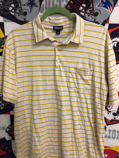 Patagonia striped polo large