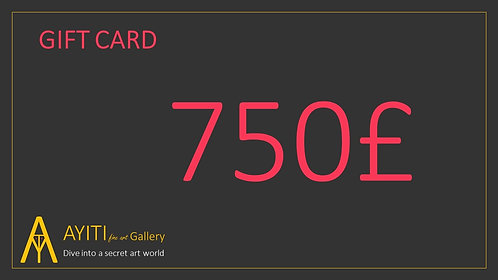 Gift Card £750