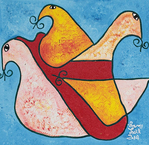 Levoy Exil - The 3 doves (30x30cm)