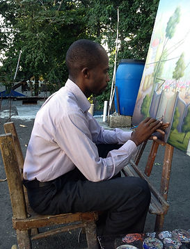 AYITI Gallery. Haitian Artist. Makenol Profil. Haitian art gallery. Visionary artist. Haiti. Emerging artist.  Invest in Art. Up-and-coming master. Art Collection.