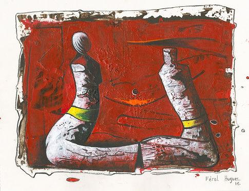 Hugues Ferol - Chitchat (28x36cm)