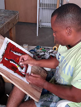AYITI Gallery. Haitian Artist. Hugues Ferol. Haitian art gallery. Visionary artist. Haiti. Emerging artist.  Invest in Art. Up-and-coming master. Haitian Art Collection.
